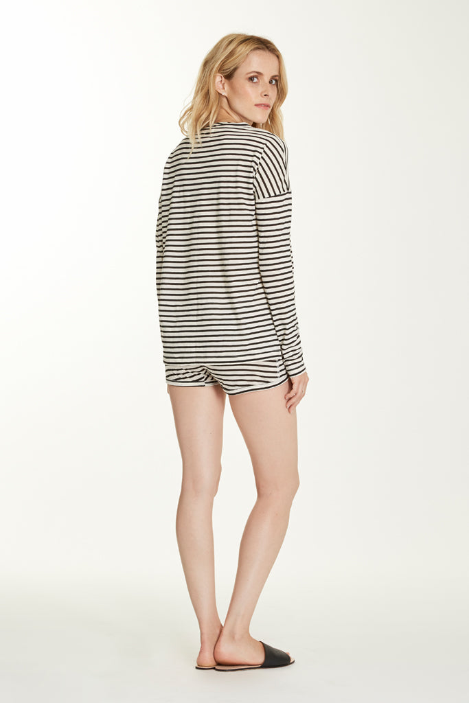 Edith Top - Pearl Stripe