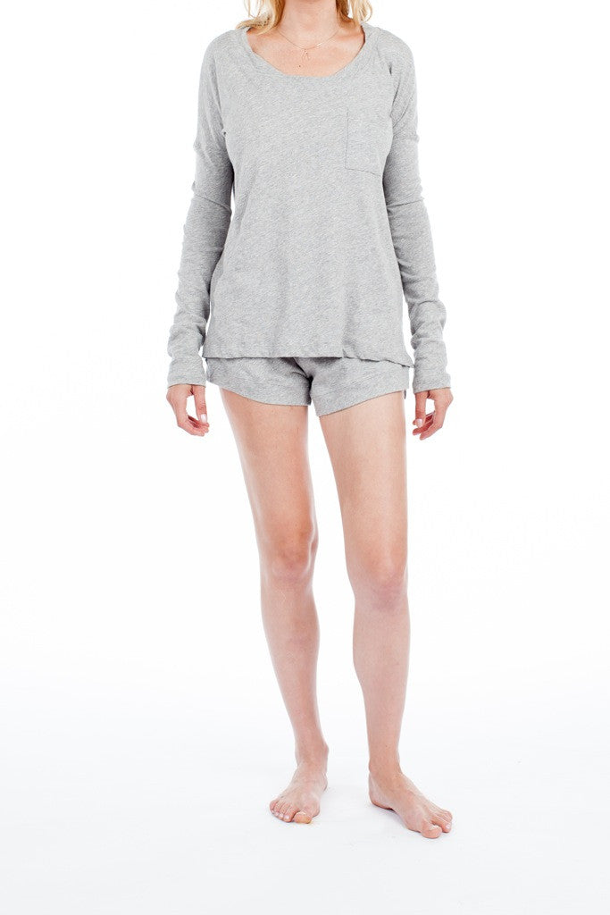 Edith Top - Light Heather Grey