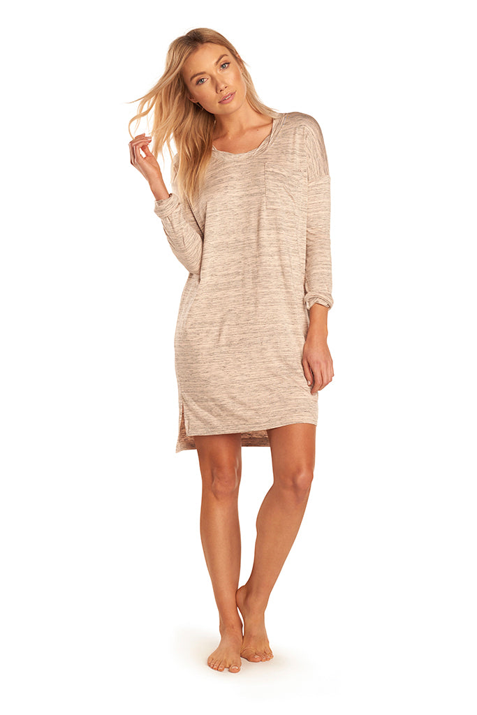 Ellie Dress - Nude Space Dye