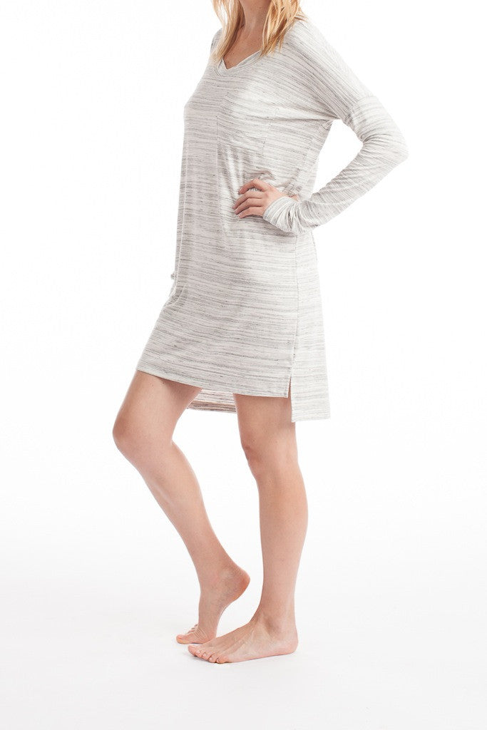 Ellie Dress - Ivory Space Dye