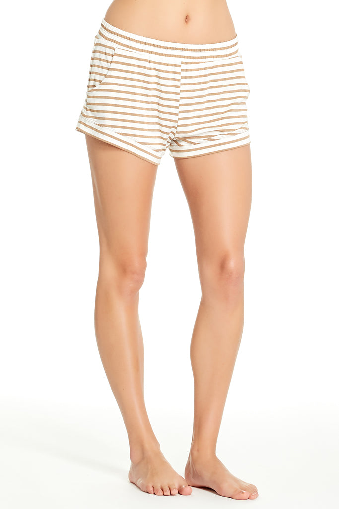 Elody Short - Camel Stripe
