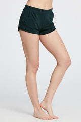 Elody Short - Dark Green/Navy Stripe