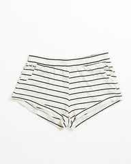 Elody Short - Ivory/Black Stripe