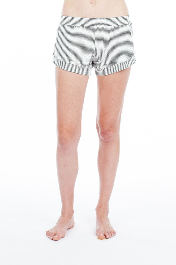 Elody Short - White/Black Stripe