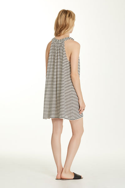 Erin Dress - Pearl Stripe