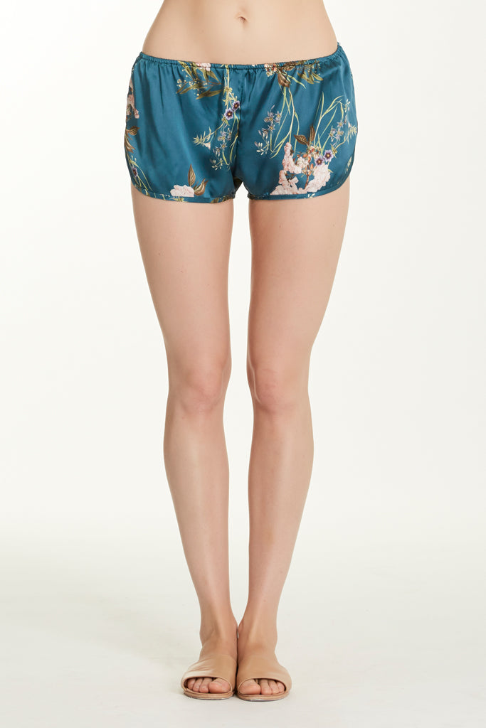 Everly Short - Teal Floral