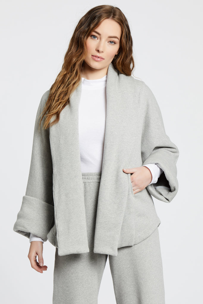 Fleece Jacket - Heather Grey