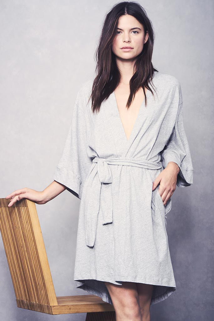 Florence Robe - Light Heather Grey