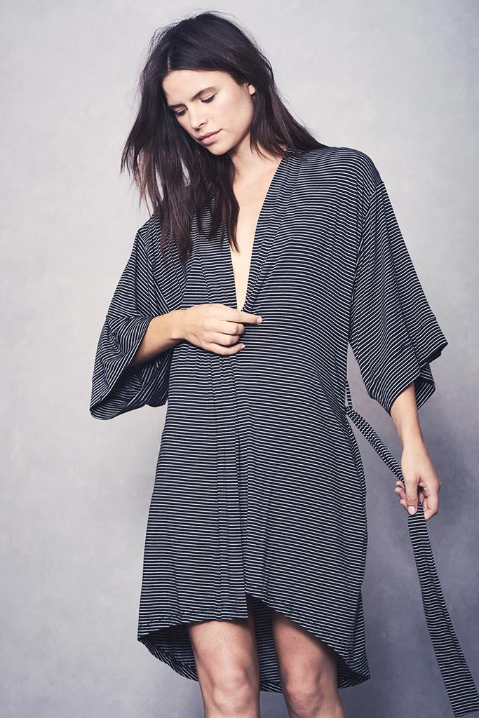 Florence Robe - Black Stripe