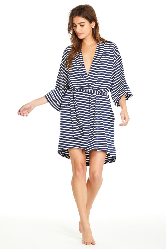 Florence Robe - Navy Stripe