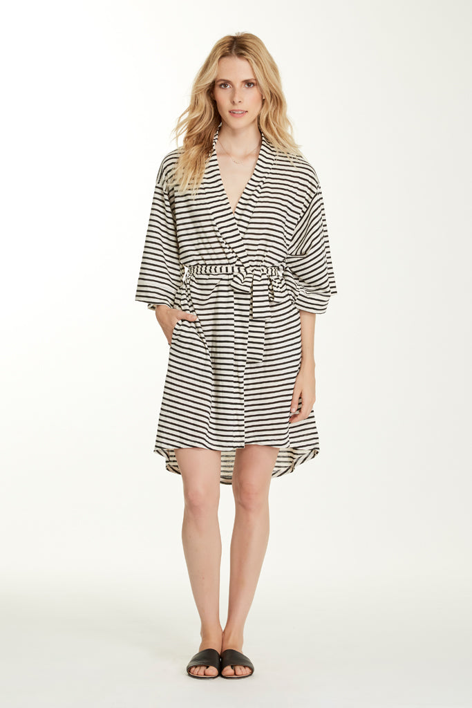 Florence Robe - Pearl Stripe