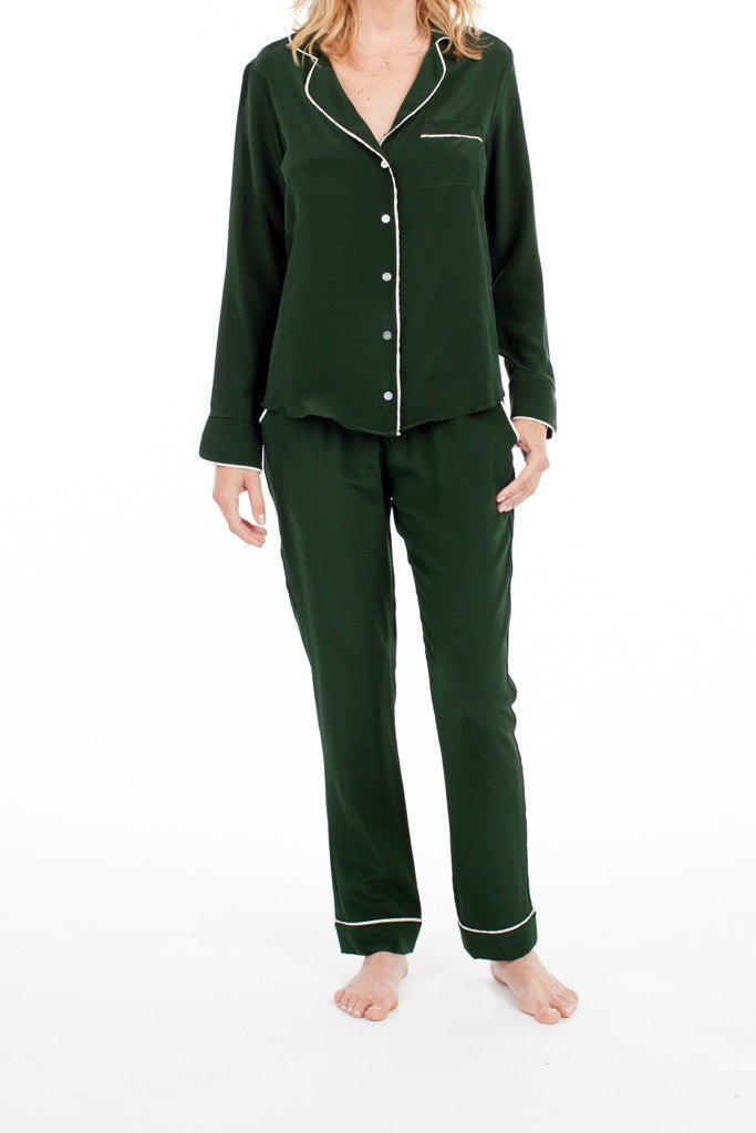 Bardot Blouse - Emerald