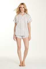 Gigi Top - Grey Stripe
