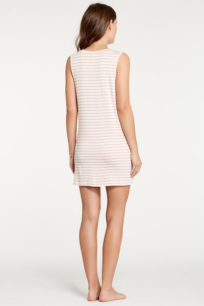 Harper Dress - Rose Stripe