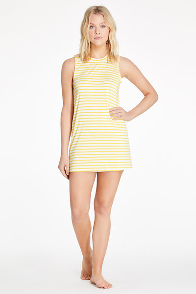 Harper Dress - Yellow Stripe