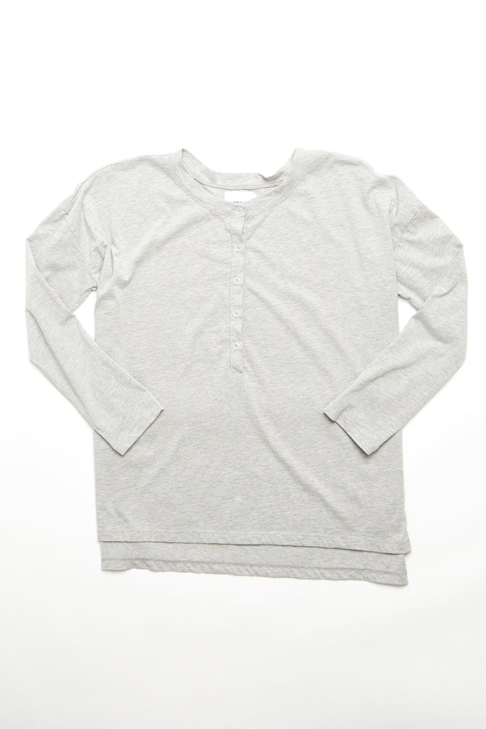 The Henley Top - Heather Grey