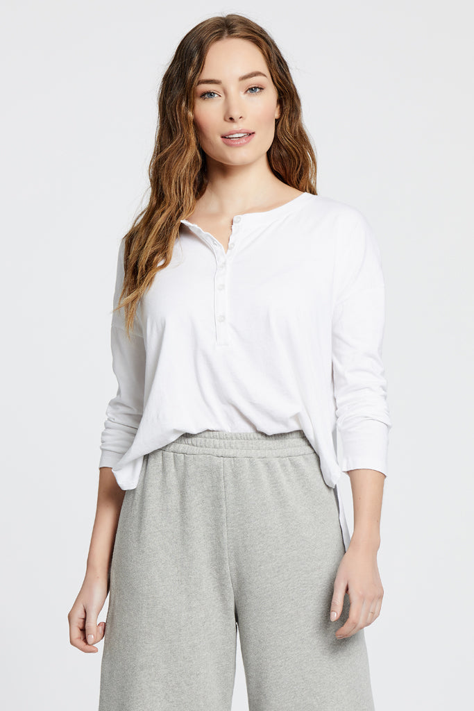 The Henley Top - White