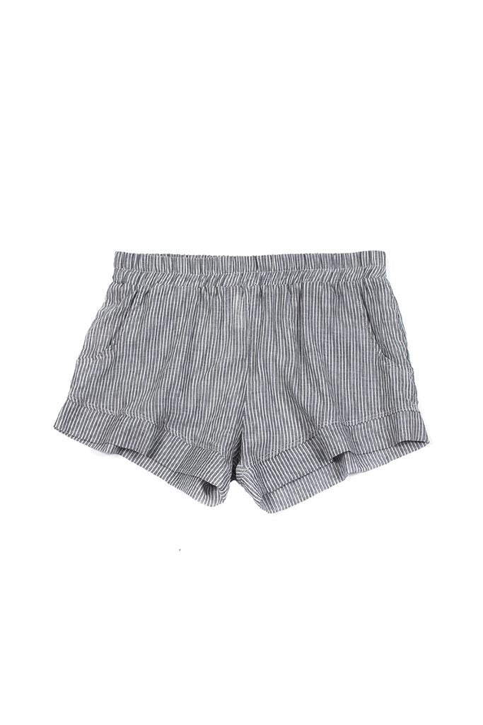 Jane Short - Grey Pinstripe