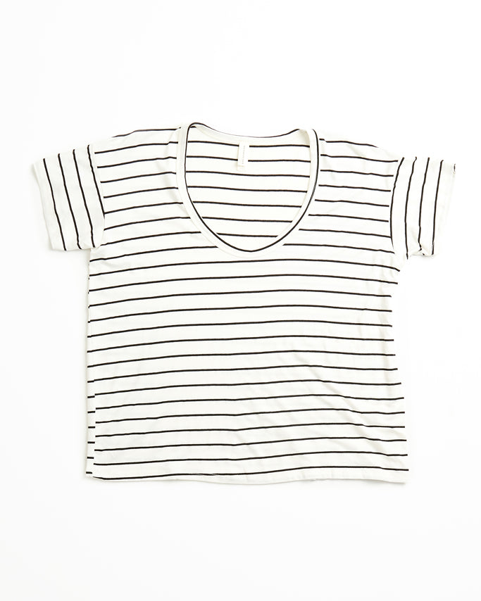 Kira - Ivory/Black Stripe