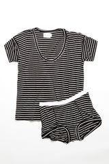 Kira Top - Black/White Stripe