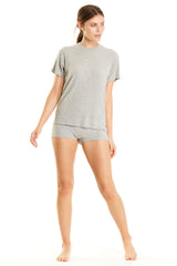 Luca Top - Heather Grey Rib