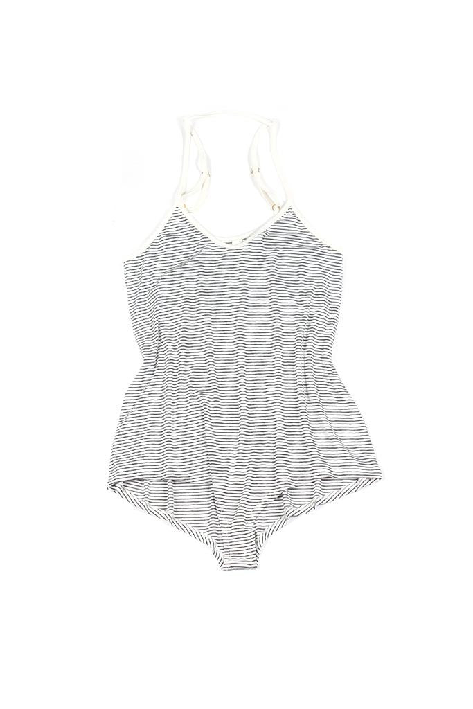 Laguna Romper - White/Black Stripe