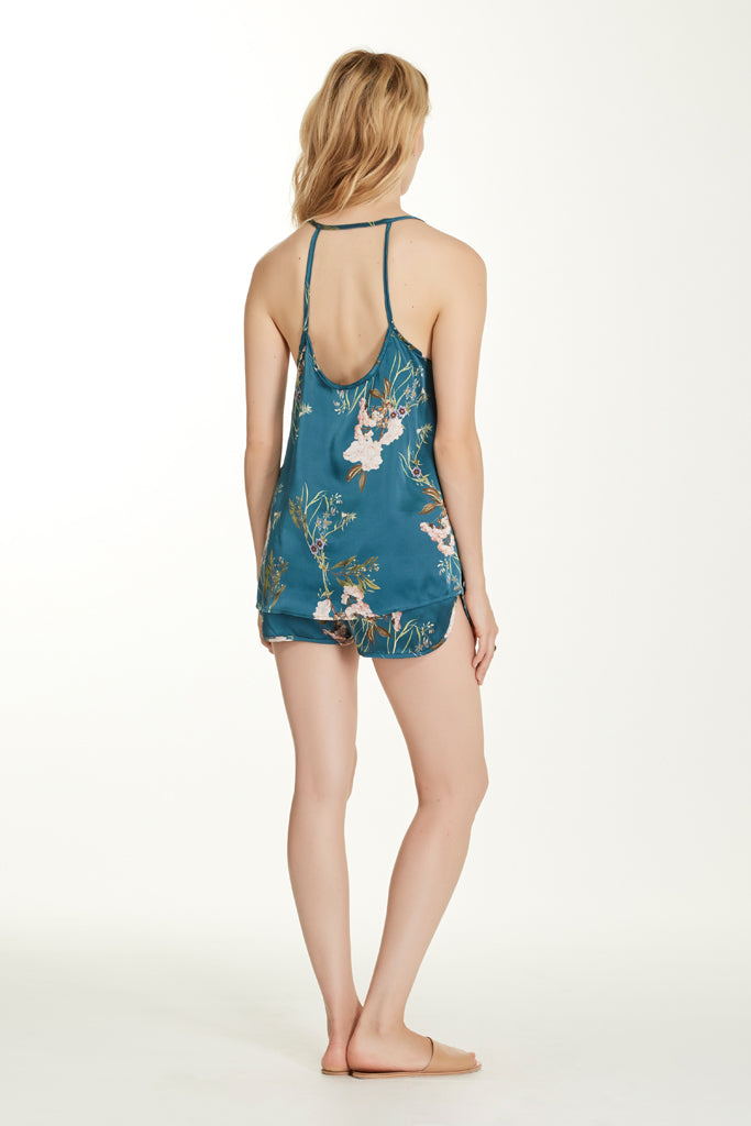 Lily Cami - Teal Floral