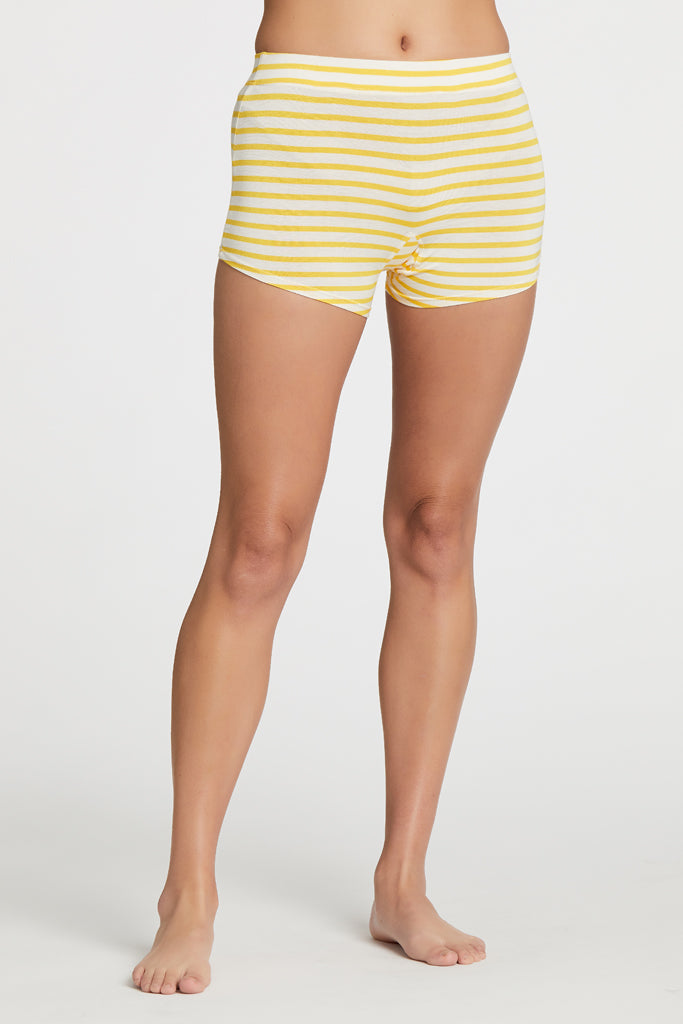 Poppy Short - Yellow Stripe