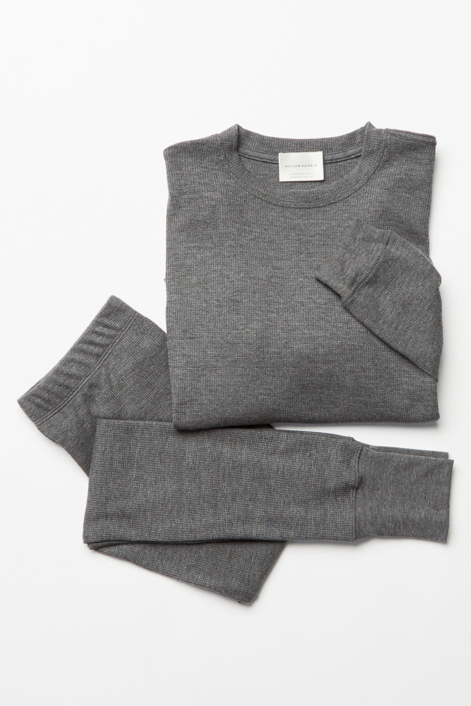 Crew Neck Thermal Top - Charcoal