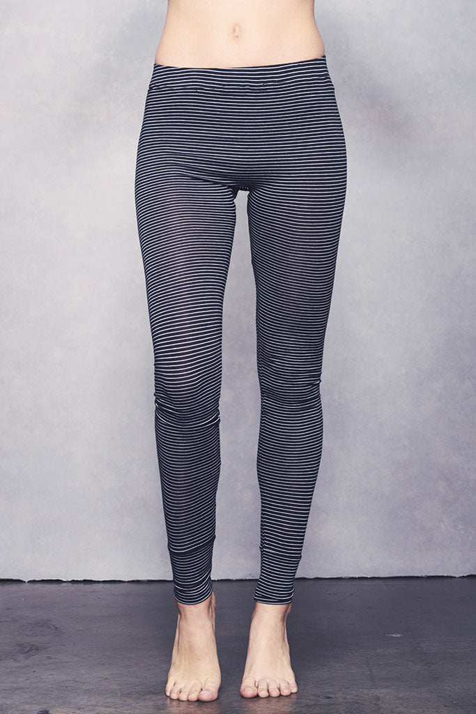 Madrid Legging - Black Stripe