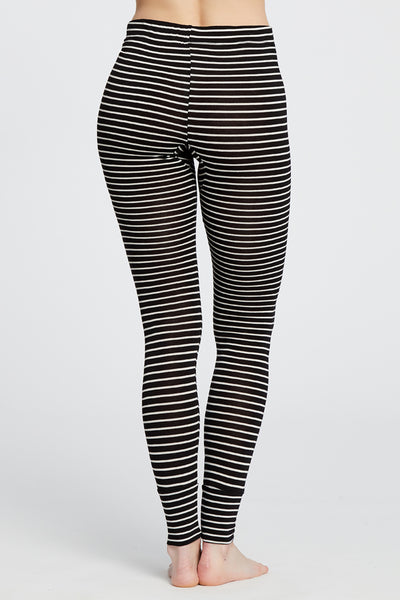 Madrid Legging - Black/White Stripe