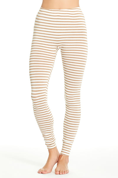 Madrid Legging - Camel Stripe