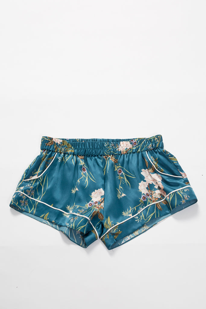 Mia Short - Teal Floral