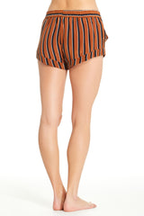 Mia Short - Tobacco Stripe