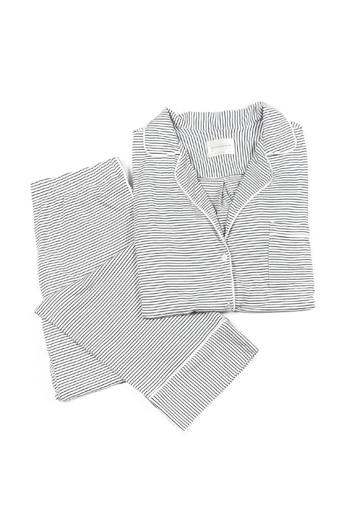 Monaco Set - White/Black Stripe