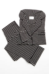 Monaco Set - Black/White Stripe