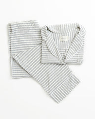 Monaco Set - Heather Grey Stripe