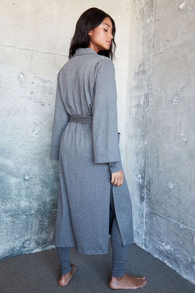 Palermo Robe - Med Heather Grey
