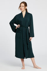 Palermo Robe - Dark Green/Navy Stripe