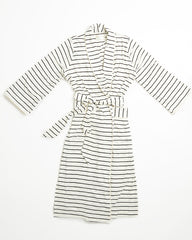 Palermo Robe - Ivory/Black Stripe