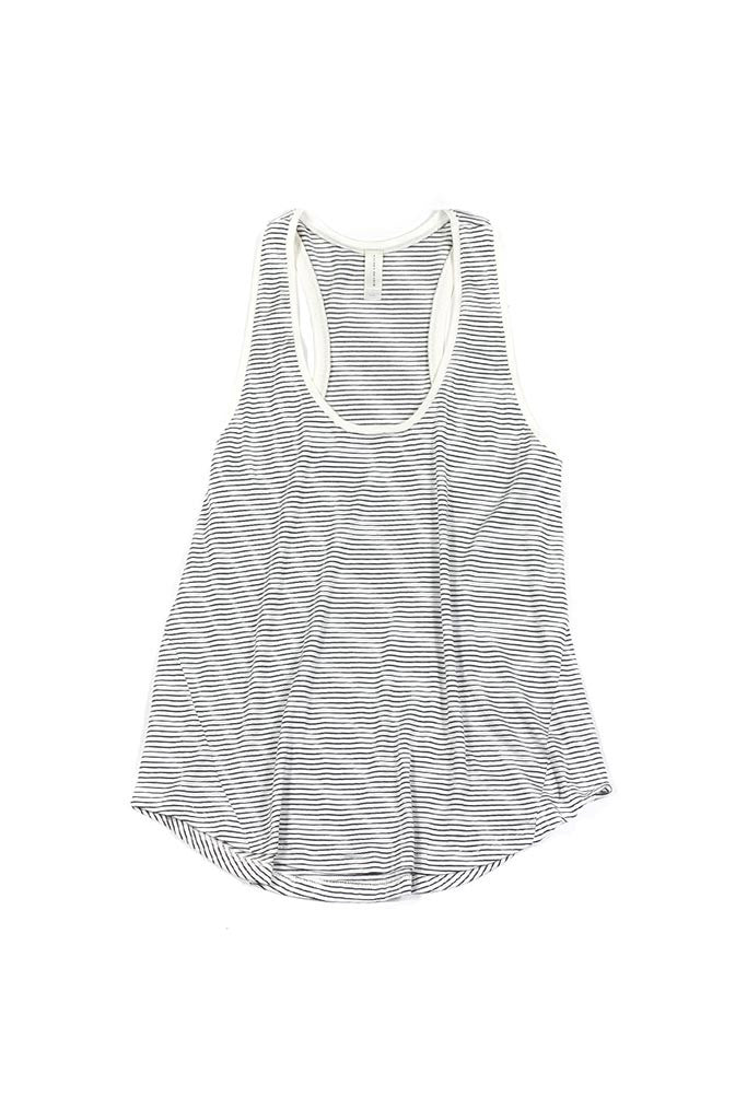 Petty Tank - White/Black Stripe