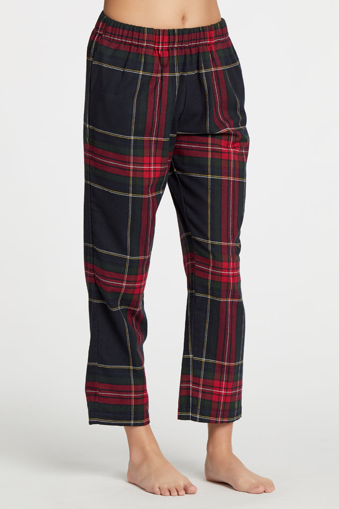 Positano Bottoms - Tartan Plaid
