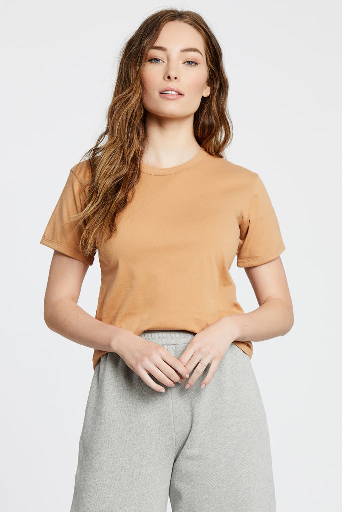 Ringer Top - Nude