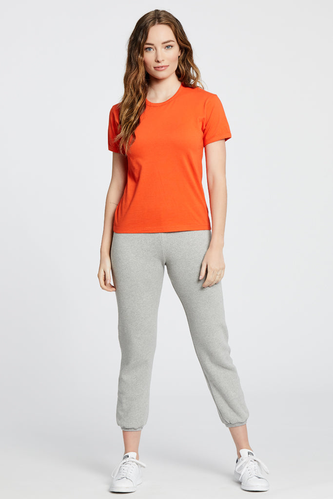 Ringer Top - Orange/Red