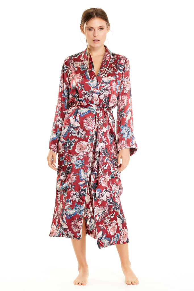 Sophie Robe - Brick Red Floral