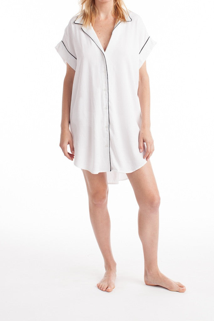Sao Paulo Shirtdress - White