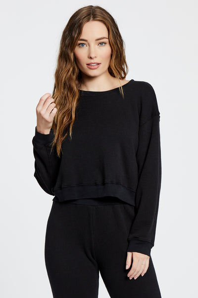 Standard Fleece Top - Black