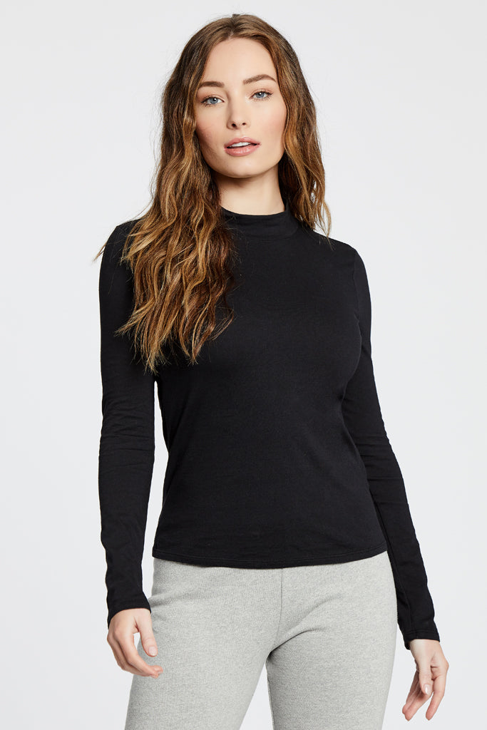Turtle Neck Top - Black