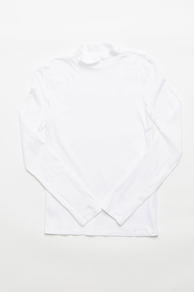 Turtle Neck Top - White