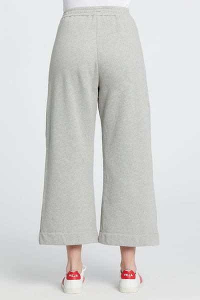 Wide Leg Fleece - Heather Grey